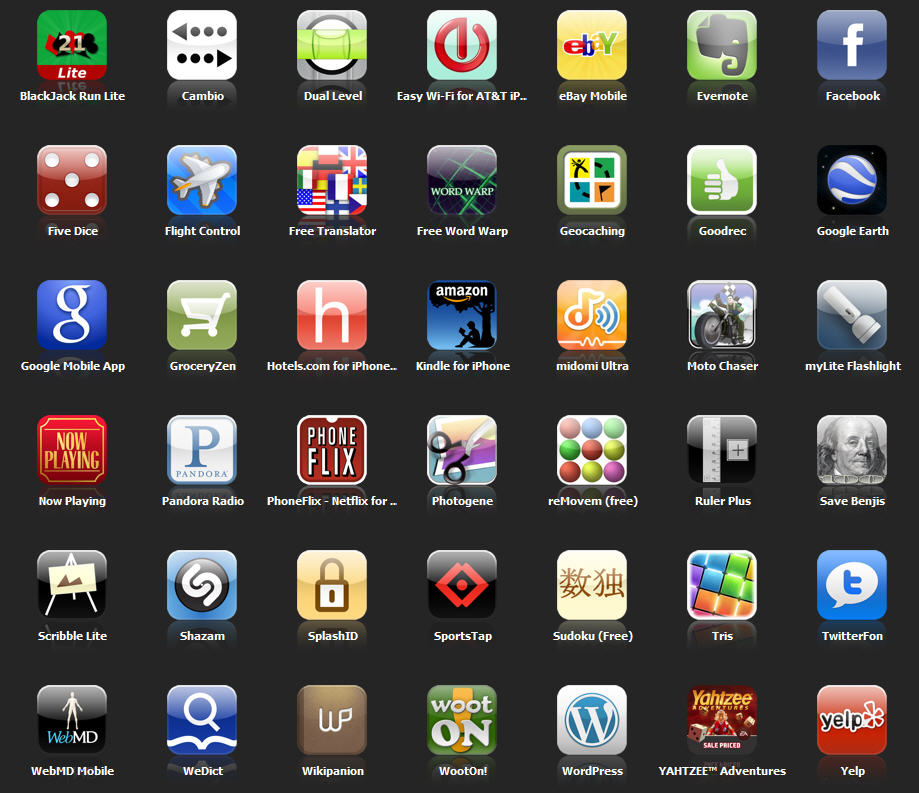 My iphone applications after 10 months for Picture apps for iphone