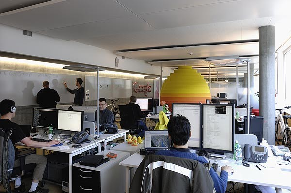 Inside of one of Google's offices